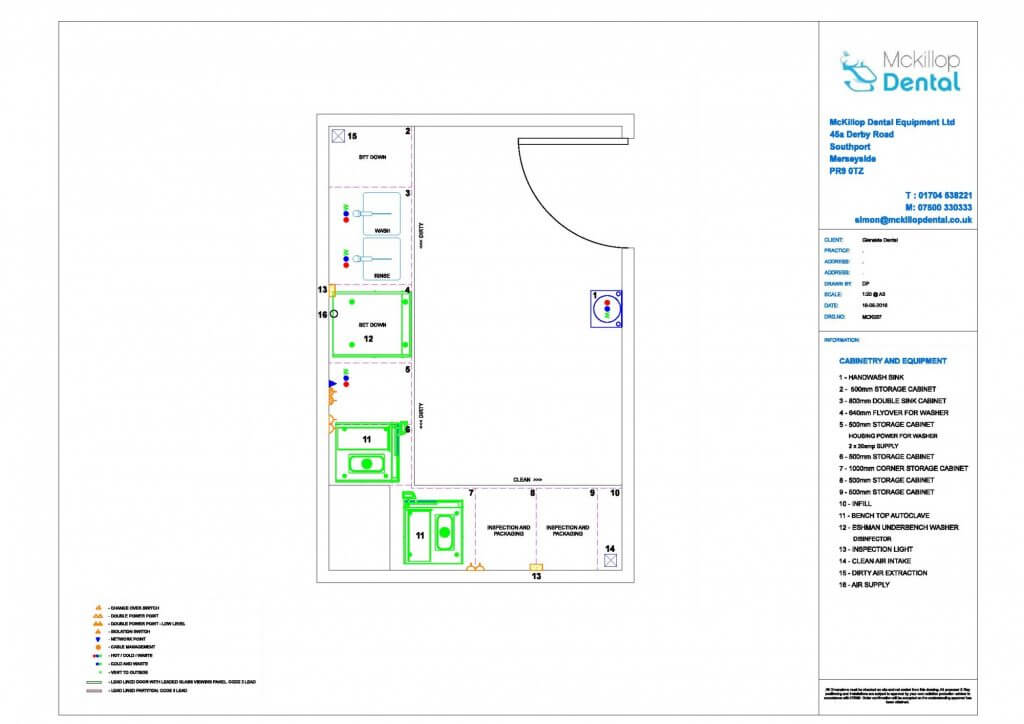 Decontamination Room plan